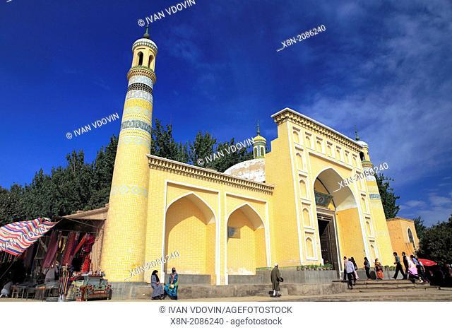 Id Kah Mosque, Kashgar (Kashi), Kashgar Prefecture, Xinjiang Uyghur Autonomous Region, China