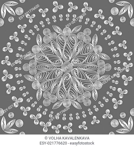 vector seamless floral lace white pattern