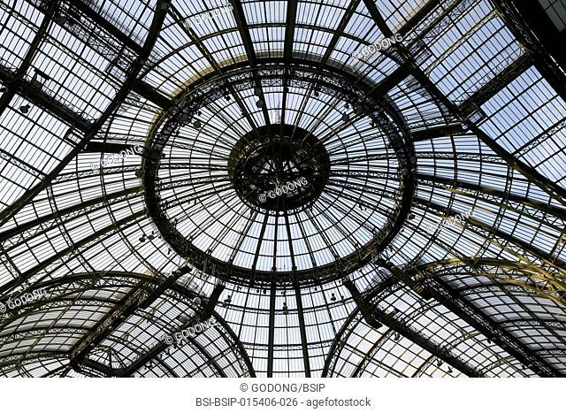 Grand Palais glass dome, Paris. France