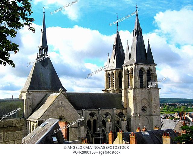 Cathedral of St. Nicholas, Blois, Loir-et-Cher, France.