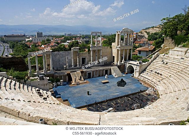 Plovdiv, antique theatre, Iind century AD. Bulgaria