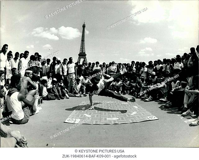 Jun. 14, 1984 - 'The Smurf' Break Dance in Paris at the Trocadero (Credit Image: © Keystone Press Agency/Keystone USA via ZUMAPRESS.com)
