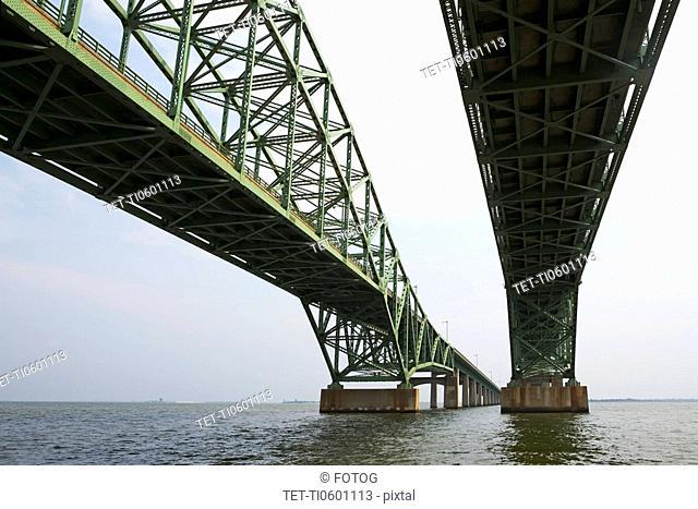 Identical steel bridges