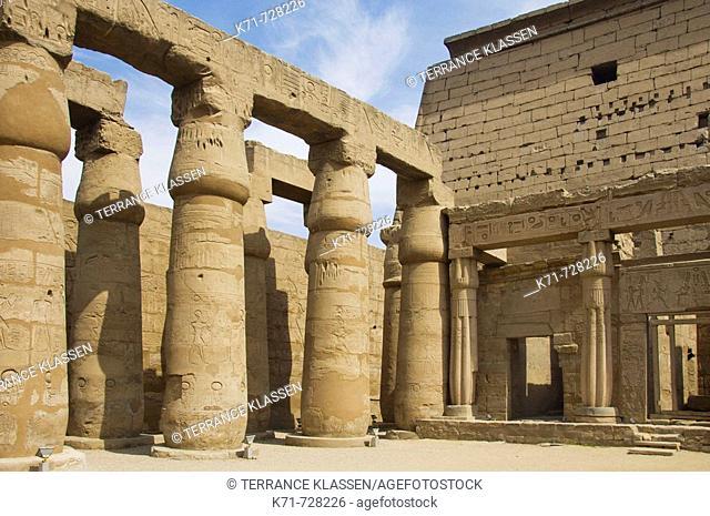 The Luxor Temple in Luxor, Egypt
