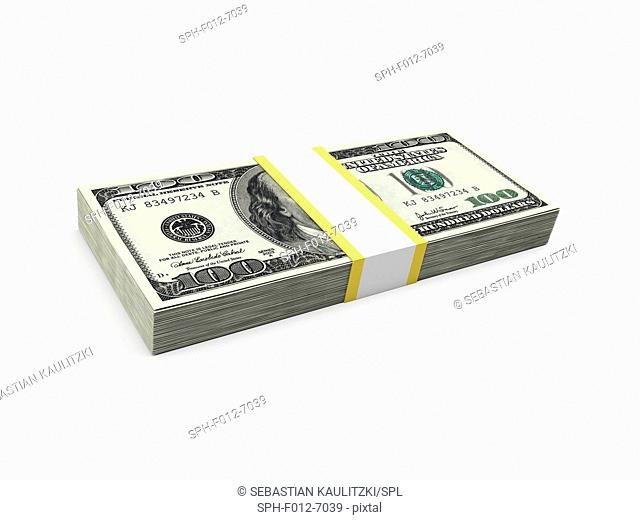 US dollar notes, Illustration
