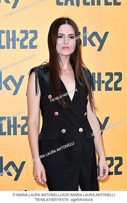 Ivana Lotito during the Red carpet for the Premiere of film tv Catch-22, Rome, ITALY-13-05-2019