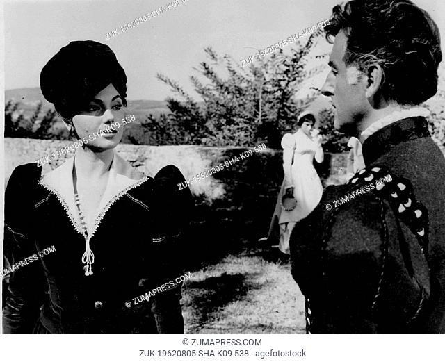 Aug. 5, 1962 - London, England, U.K. - Actress SYLVA KOSCINA (1933-1994), born as Sylva Koskinon, was a Yugoslavian-born Italian actress of Greek and Polish...