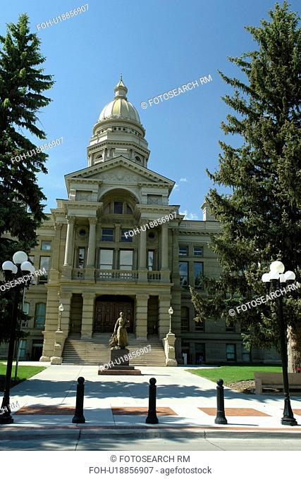 The state capitol building at cheyenne Stock Photos and