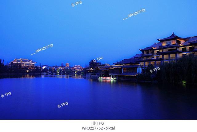 Taierzhuang at night;Shandong;China