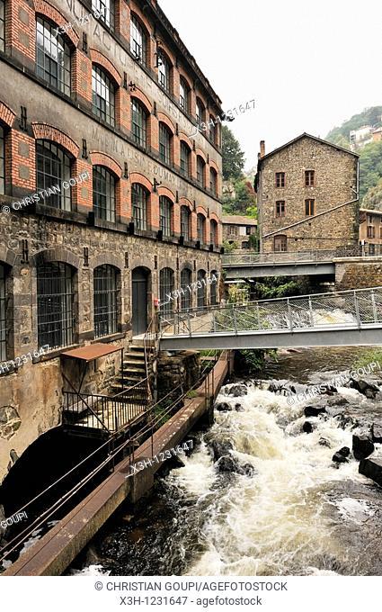 Usine du May former factory, Livradois-Forez Regional Nature Park, Puy-de Dome department, Auvergne region, France, Europe