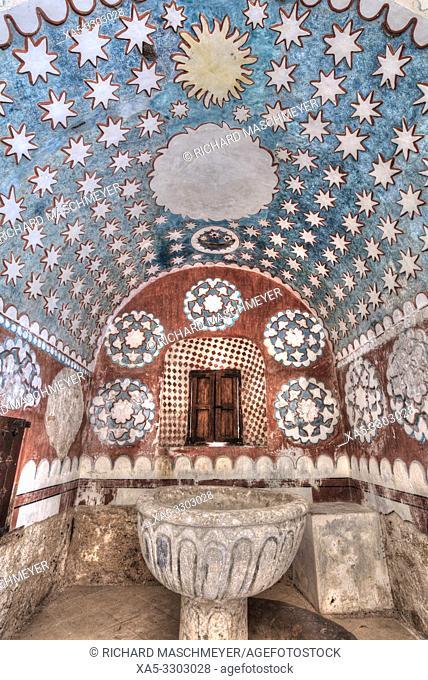 Interior, Ex-Convent of Santo Domingo, Founded in 1646, Uayma, Yucatan, Mexico