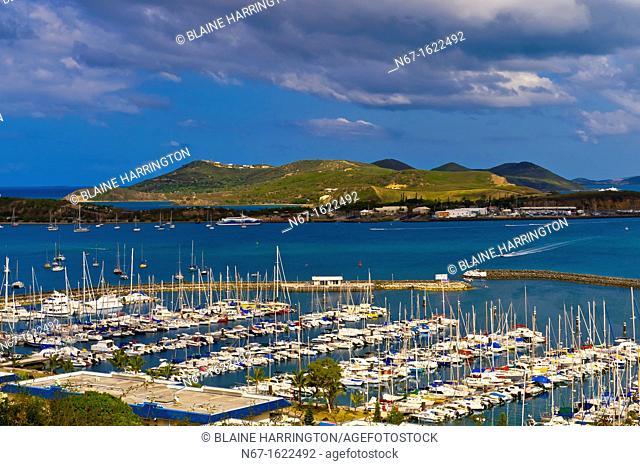 Port Noumea sailboats and cargo port, Noumea, New Caledonia