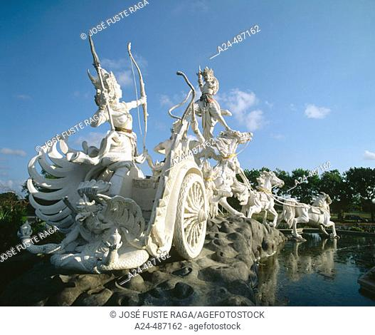 Ramayana statue. Ngurah Rai Airport. Java, Indonesia