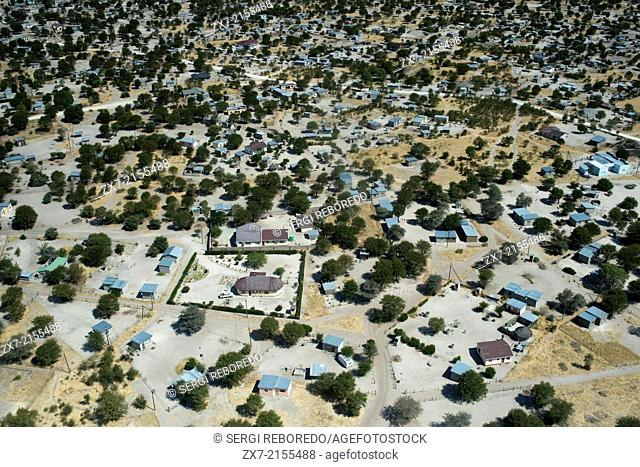 Aerial views from of Maun . The best time to visit the delta depends on what you want to see . If you are looking for are large animals