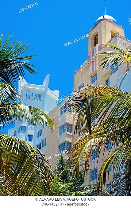 Delano Hotel, Collins Avenue, South Beach, Miami, Florida, USA