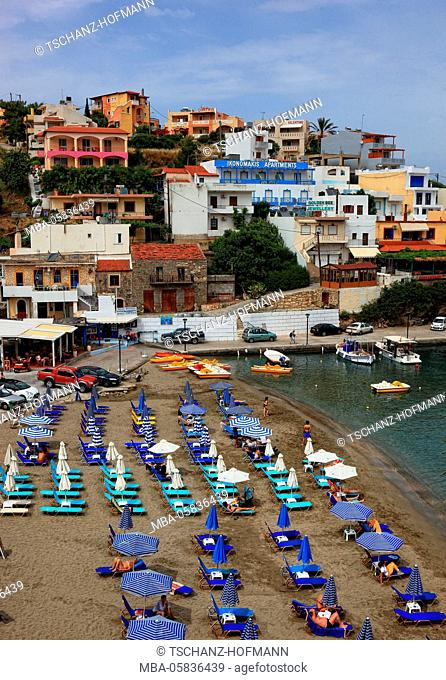 Crete, Bali on the north coast, view to the place with beach and harbour