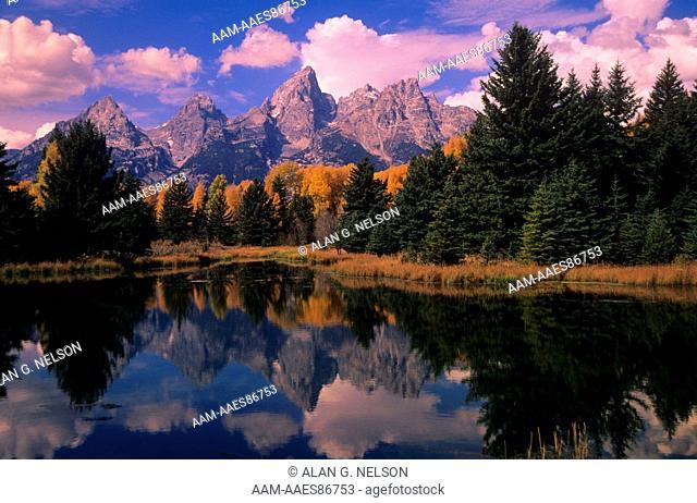 Reflection of Grand Tetons, Grand Teton NP, WY
