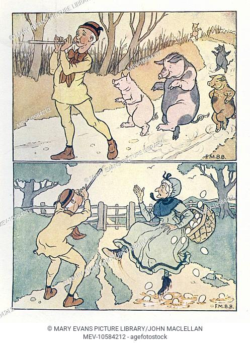 Nursery Rhymes -- Tom the Piper's Son. Tom with his pipe did play with such skill, that those who heard him could never keep still; as soon as he played they...