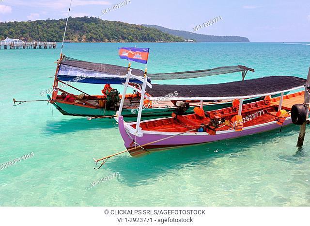 Cambodia, Sihanoukville, Koh Rong Samloem island, Saracen Bay beach