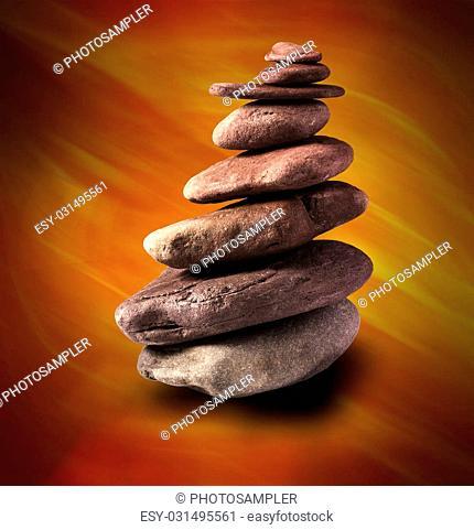 Zen like balanced stone tower