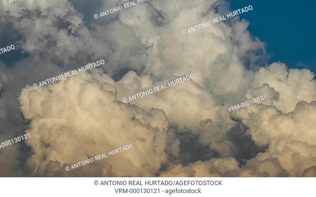 Storm clouds. Almansa. Albacete province. Spain