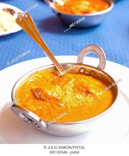 Indian chicken tandoori metal bowl