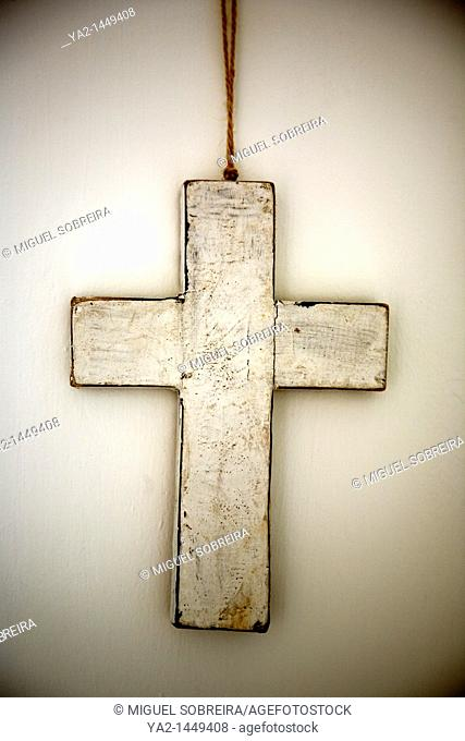 White painted cross
