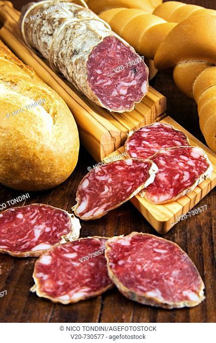 Sausages from Felino. Emilia-Romagna, Italy