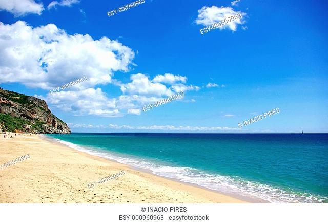 Beach of Sesimbra, Portugal