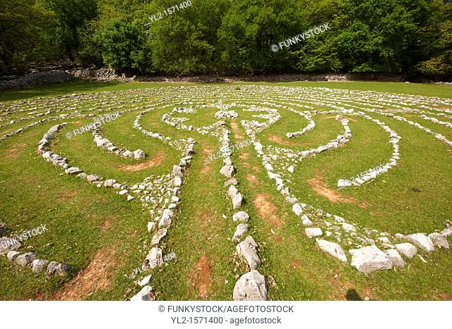 Vesna's Labyrinth - Replica of a labyrinth found in Notre Dame Cathedral, Tramuntana Forest, Cres Island Croatia
