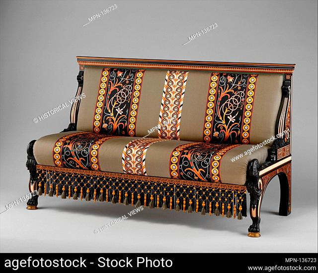 Settee. Designer: Designed by Sir Lawrence Alma-Tadema (British (born The Netherlands), Dronrijp 1836-1912 Wiesbaden); Manufacturer: Johnstone Norman & Co