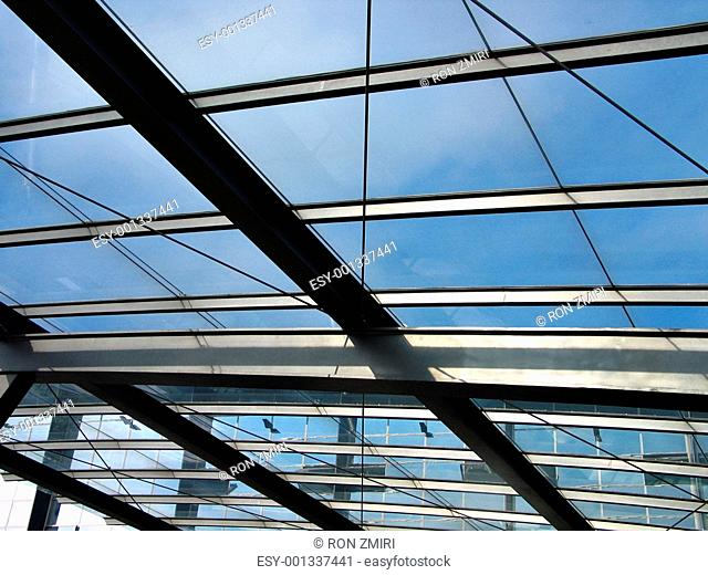 Modern abstract architecture - metal glass ceiling