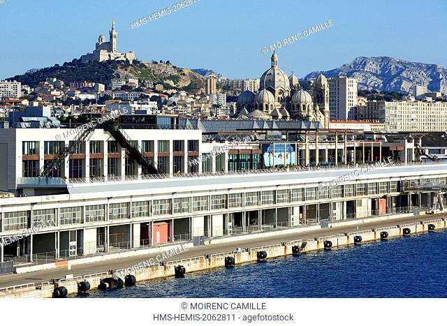 France, Bouches du Rhone, Marseille, Euromediterranean area, La Joliette district, dock Lazaretto, the Terrasses du Port