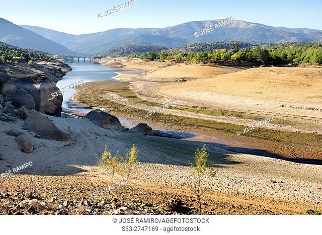 Gaznata bridge over Burguillo reservoir. Avila. Castilla Leon. Spain. Europe