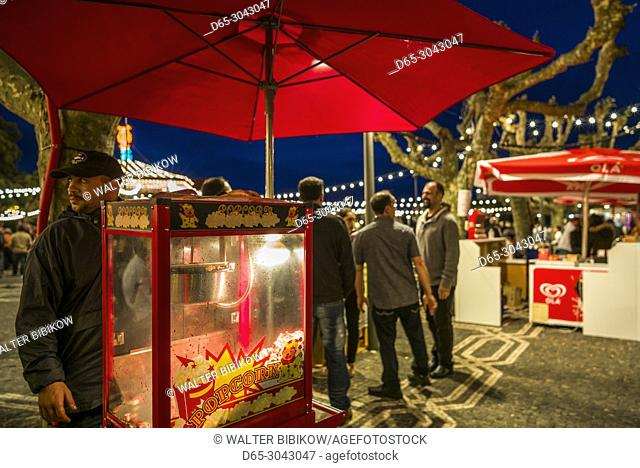 Portugal, Azores, Sao Miguel Island, Ponta Delgada, Festa Santo Christo dos Milagres festival, festival vendor