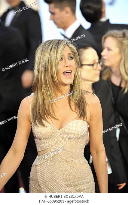 Actress Jennifer Aniston attends the 87th Academy Awards, Oscars, at Dolby Theatre in Los Angeles, USA, on 22 February 2015