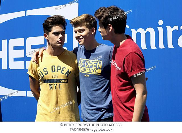 L-R Emery Kelly, Ricky Garcia and Liam Attridge of Forever In Your Mind August 27,2016 Arthur Ashe Kids' Day at USTA Billie Jean King National Tennis Center...