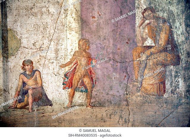 Italy, Naples, Naples Museum, from Pompeii, House of Jason IX 5, 18, Medea