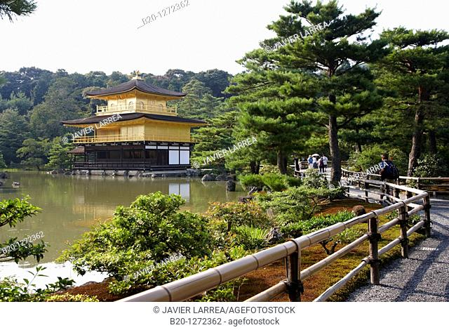 Kinkakuji Temple, The Golden Pavilion, Rokuon-ji temple, Kyoto, Japan