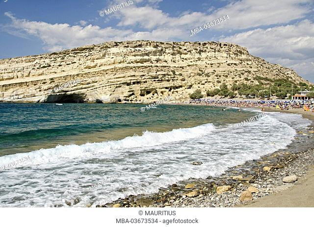 Greece, Crete, cave dwellings of Mátala