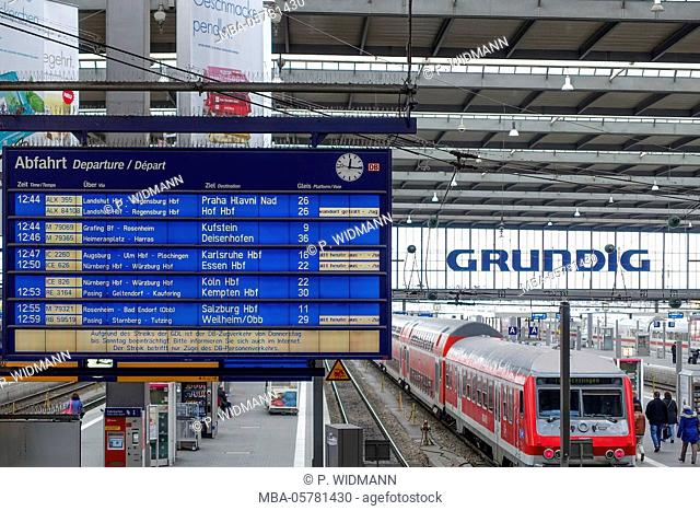 Train cancelled today, Scoreboard in Munich Station