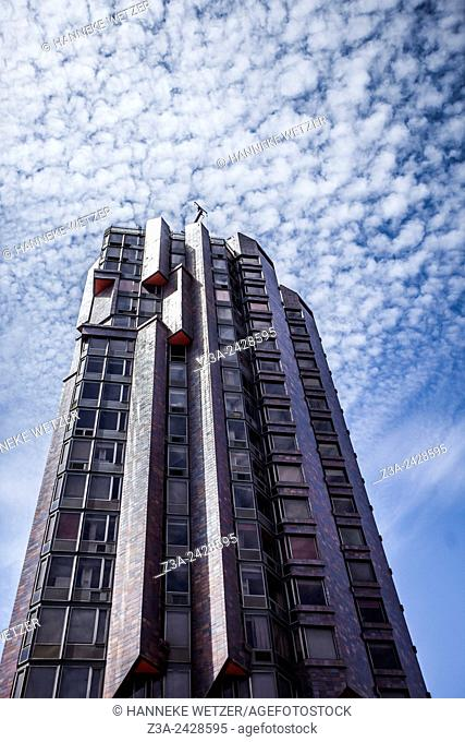 Torre Urquinaona, 21-story high-rise building in Barcelona, Catalunya, Spain