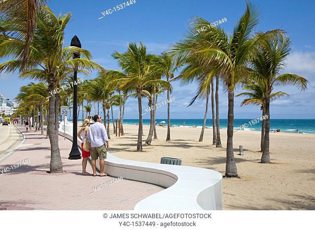 Fort Lauderdale Beach on the Atlantic Ocean or East Coast of Florida