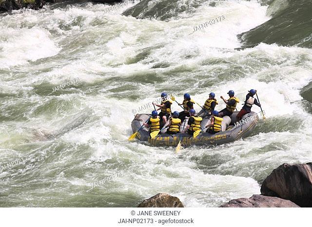 Nepal, Trisuli River, White water rafting