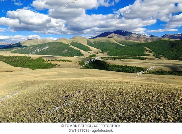 Saljugem Sailughem, Saylyugem Mountains, Tschuja Steppe, Altai Republic, Siberia, Russia, Asia