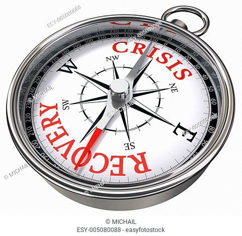crisis vs recovery concept compass