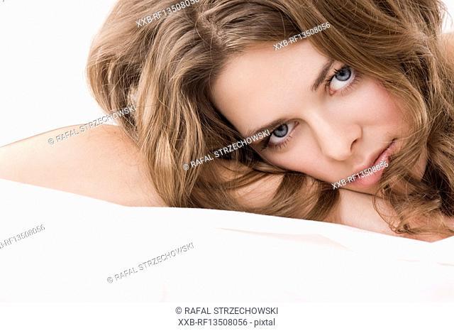 Beautiful woman resting