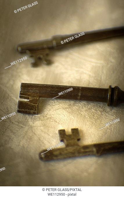 Close-up of old keys