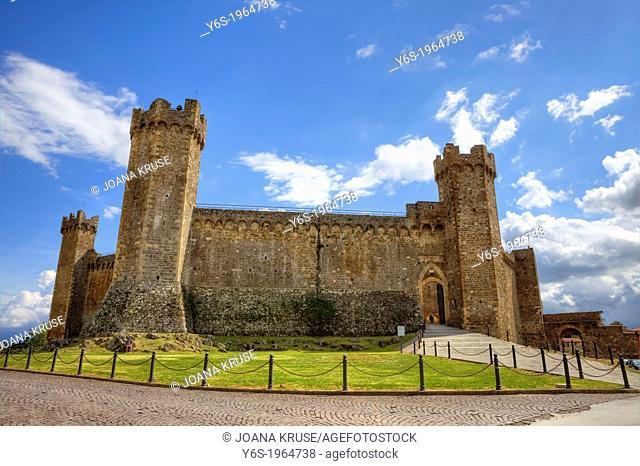 fortress in Montalcino, Tuscany, Italy