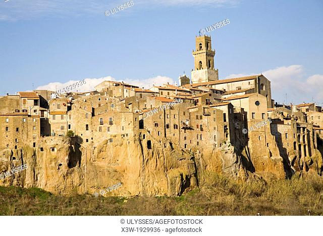 europe, italy, tuscany, pitigliano, town of estruscan origin